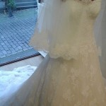 Bruidsjurk close-up